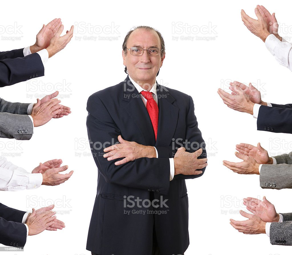 Team Applauding Businessman royalty-free stock photo