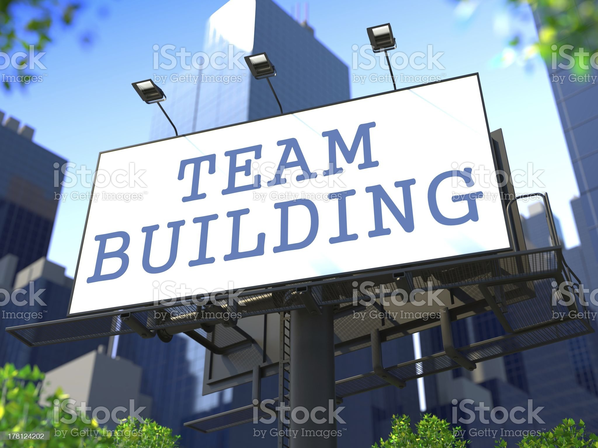 Team Building Concept on Billboard. royalty-free stock photo
