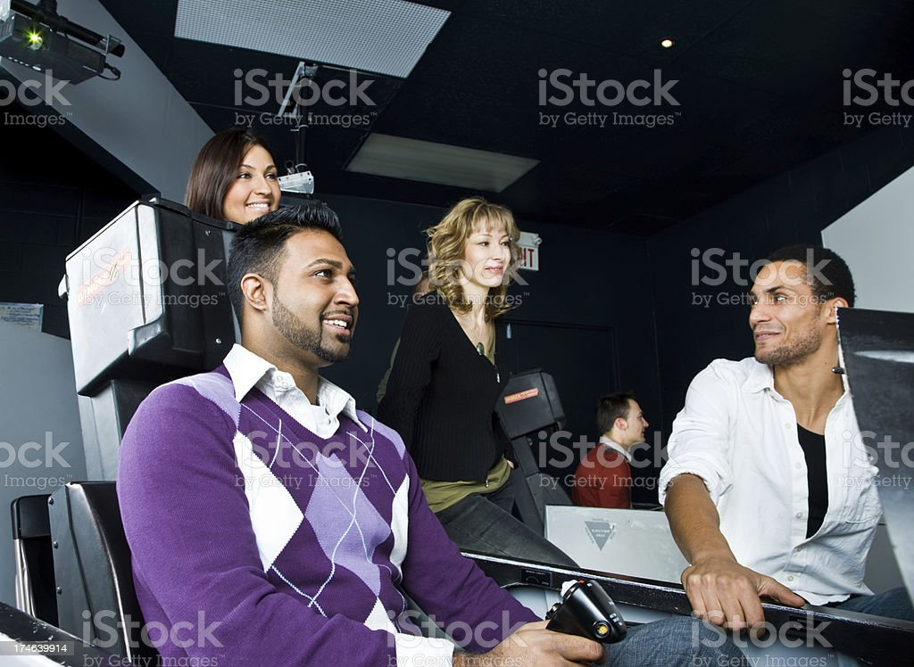 Team building fun royalty-free stock photo