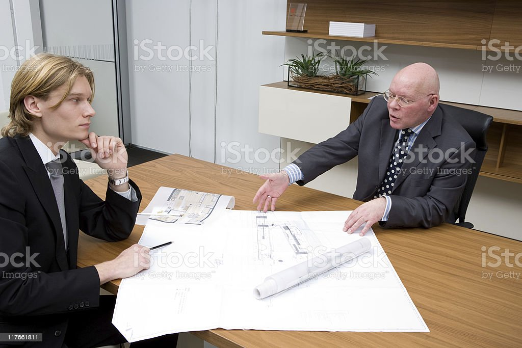 Team checking building design royalty-free stock photo