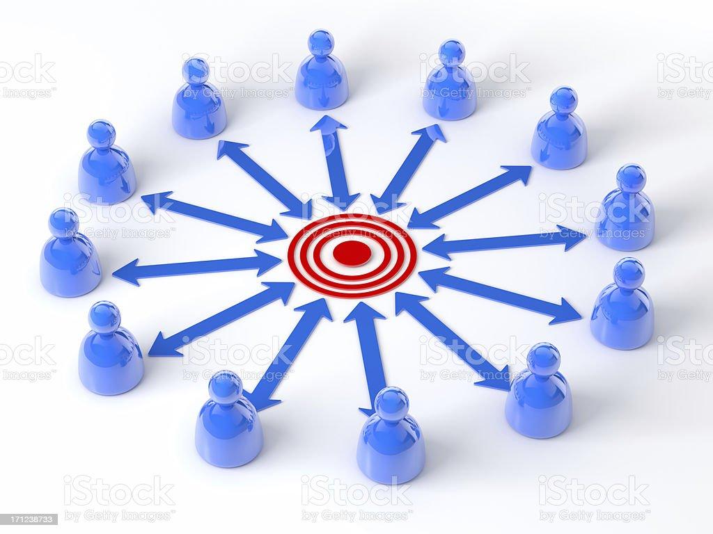 Team Communication GOAL royalty-free stock photo