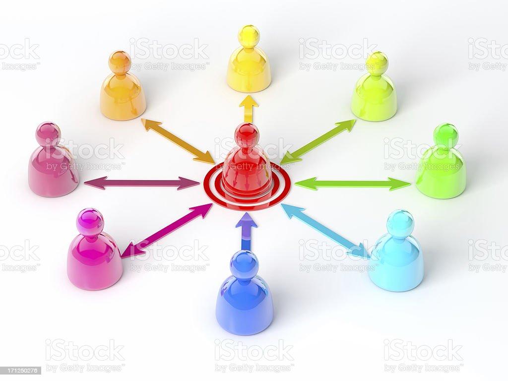 Team Communication royalty-free stock photo