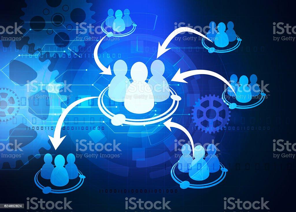 team cooperation diagram stock photo