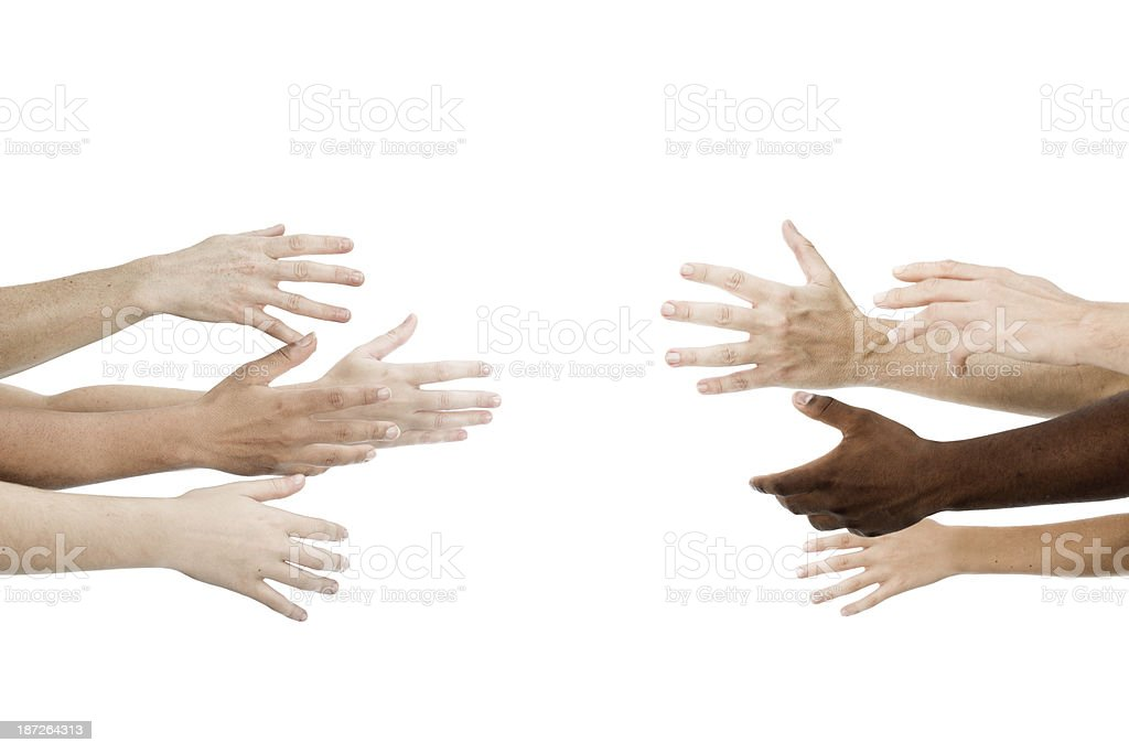 Team cooperation royalty-free stock photo