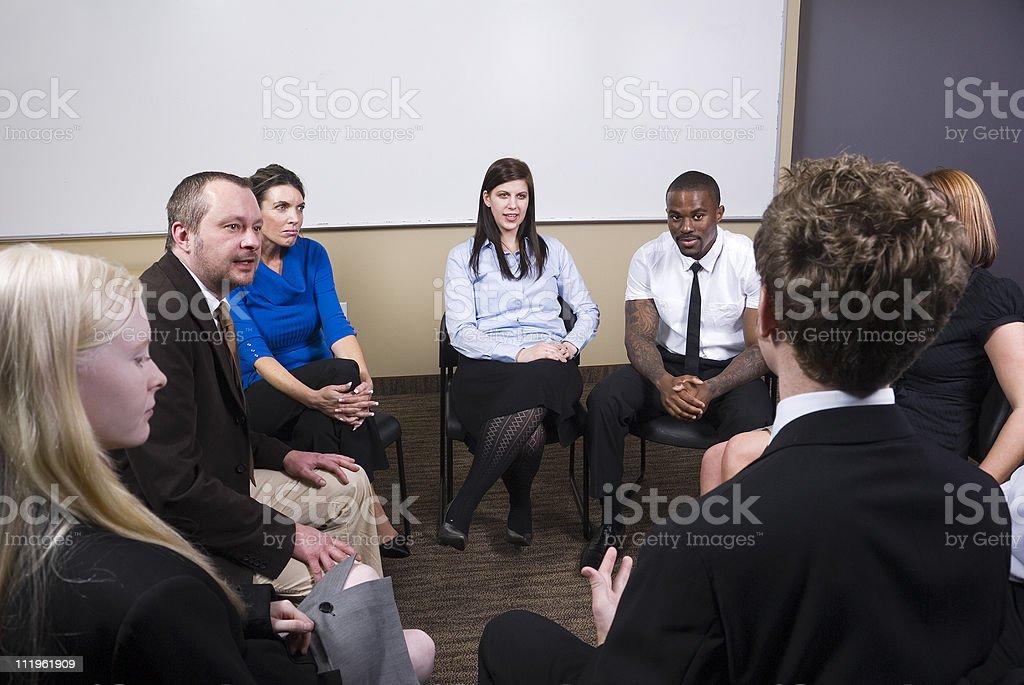 Team discussion stock photo