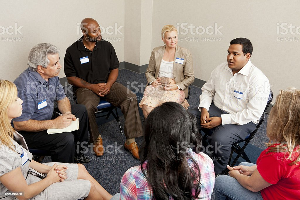 Team discussion royalty-free stock photo
