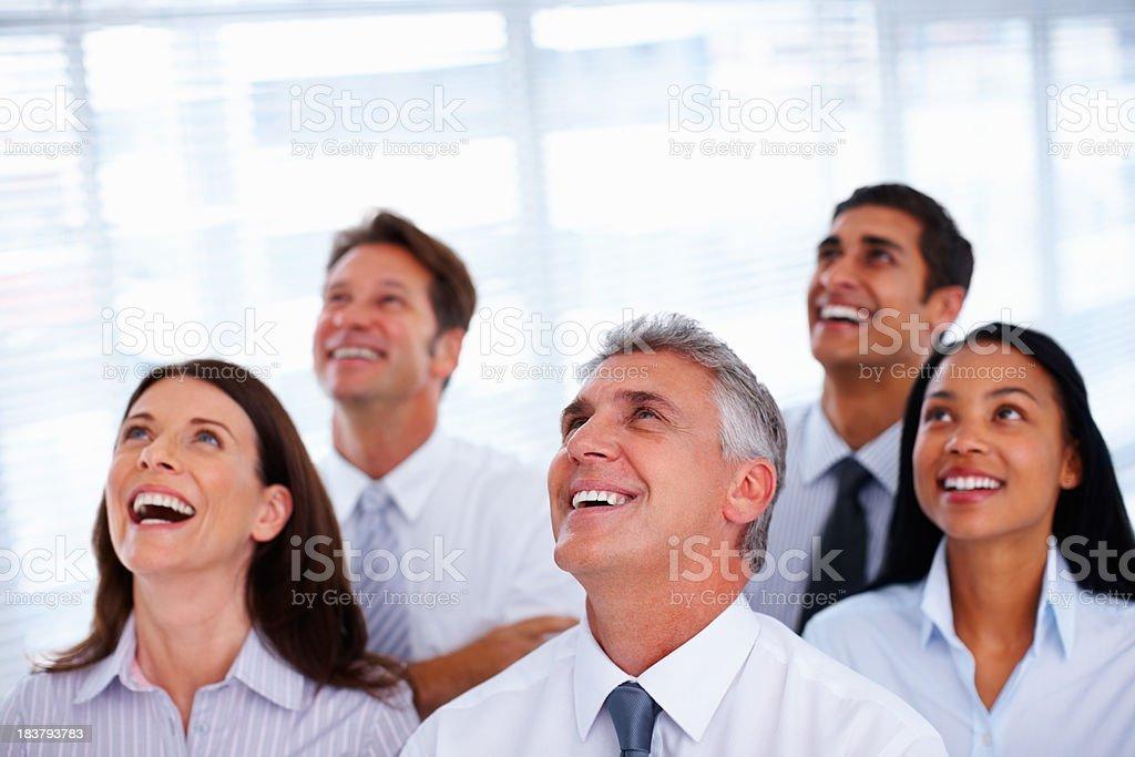 Team enjoying success royalty-free stock photo