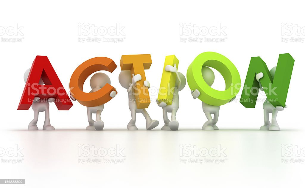 Team forming Action word stock photo