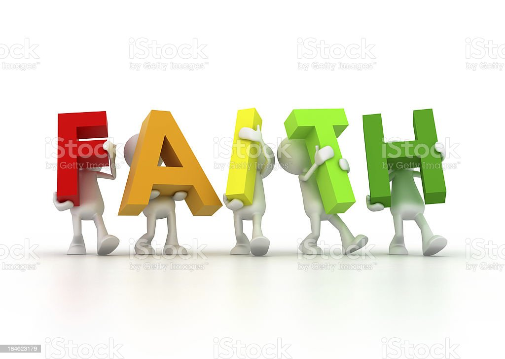 Team forming Faith word royalty-free stock photo