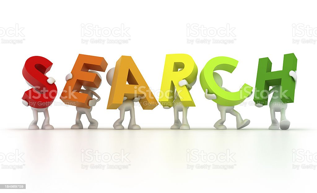 Team forming Search word royalty-free stock photo