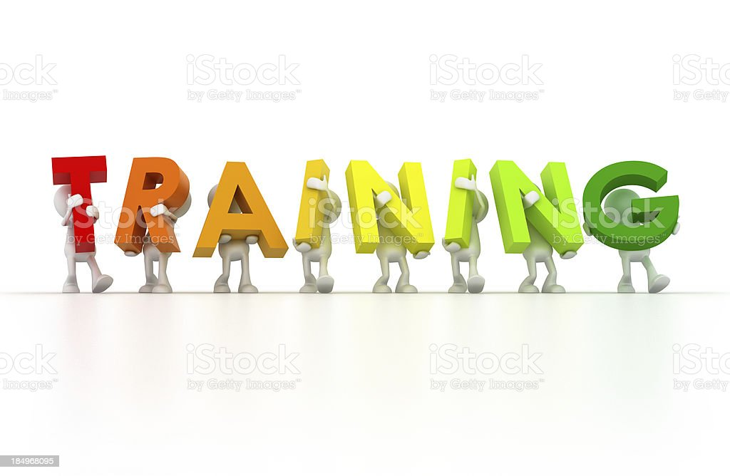 Team forming Training word stock photo