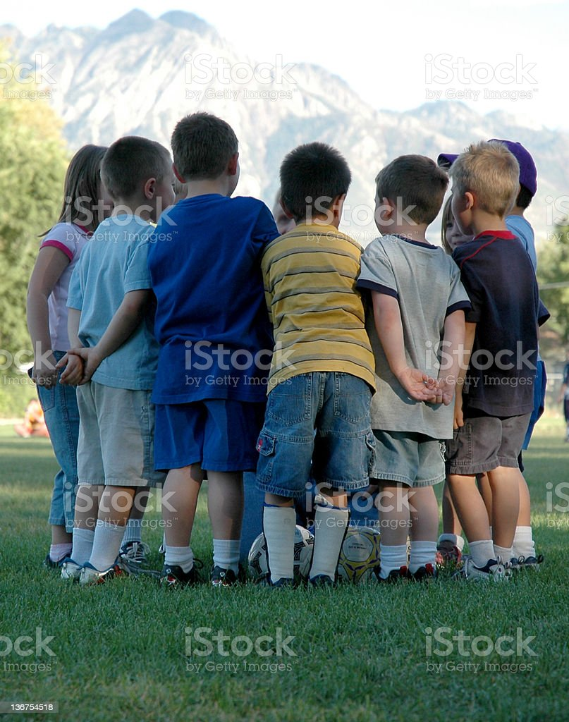 Team Huddle royalty-free stock photo