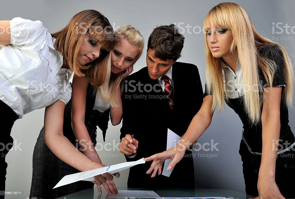 team in work royalty-free stock photo