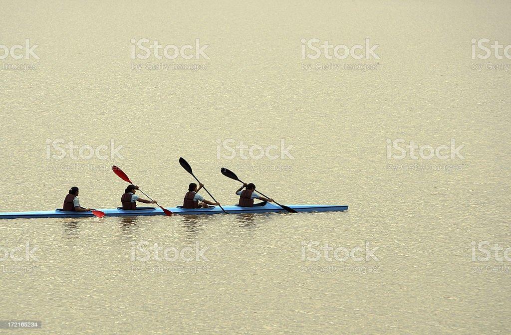 Team Kayaking royalty-free stock photo