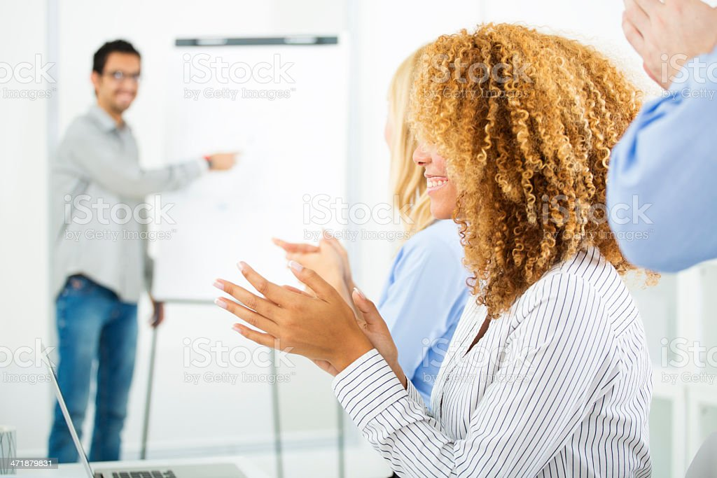 Team Leader Giving Presentation at work. royalty-free stock photo