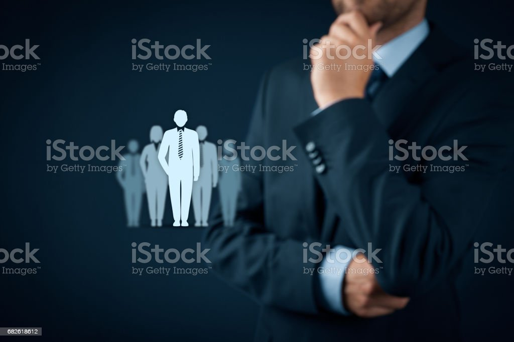Team leader, influencer, opinion leader concepts stock photo
