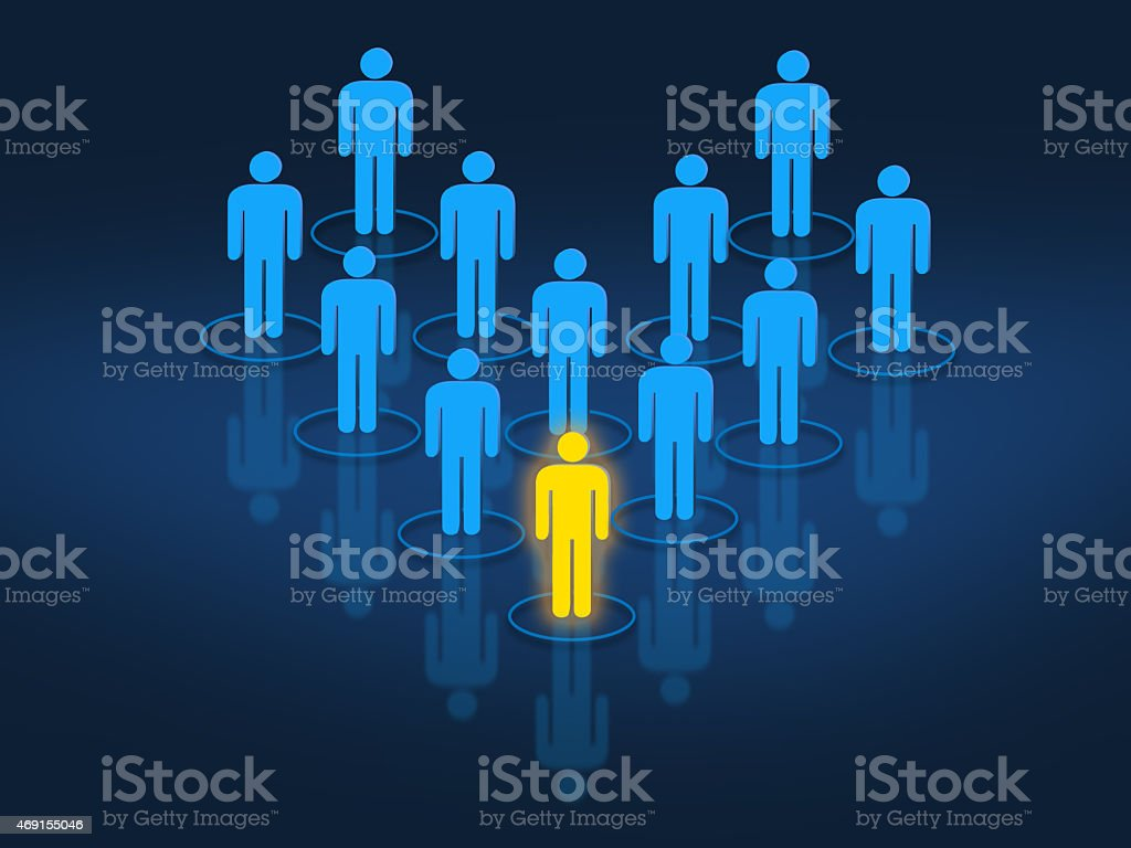 Team leader managing work force concept stock photo