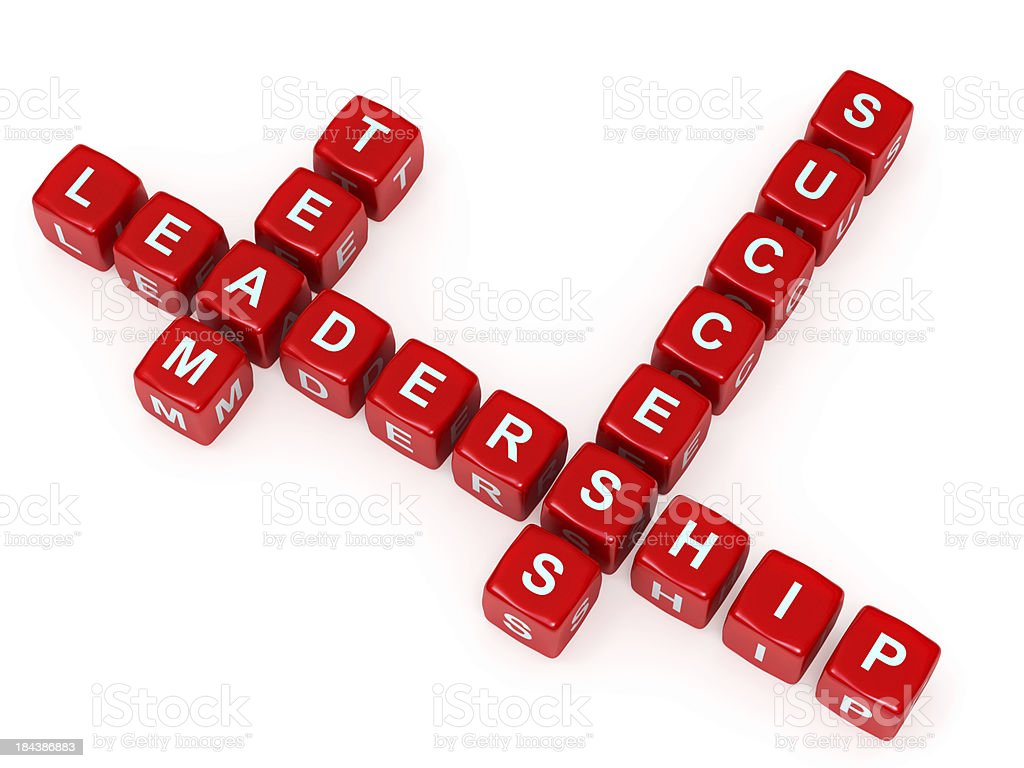 Team Leadership and success crosswords royalty-free stock photo