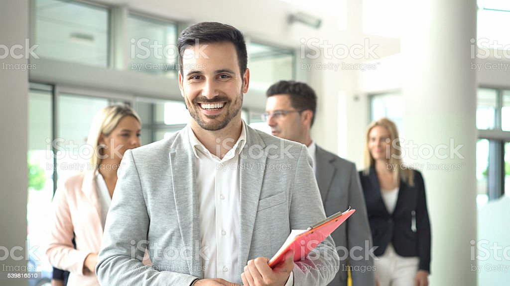 Team leadership. stock photo