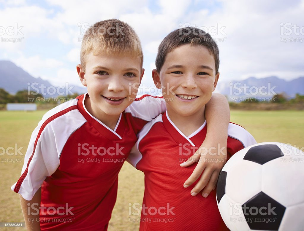 Team mates and best friends! royalty-free stock photo