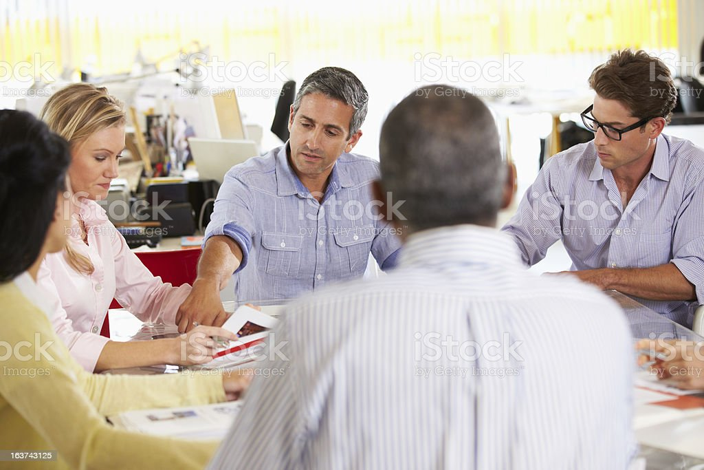 Team Meeting In Office royalty-free stock photo