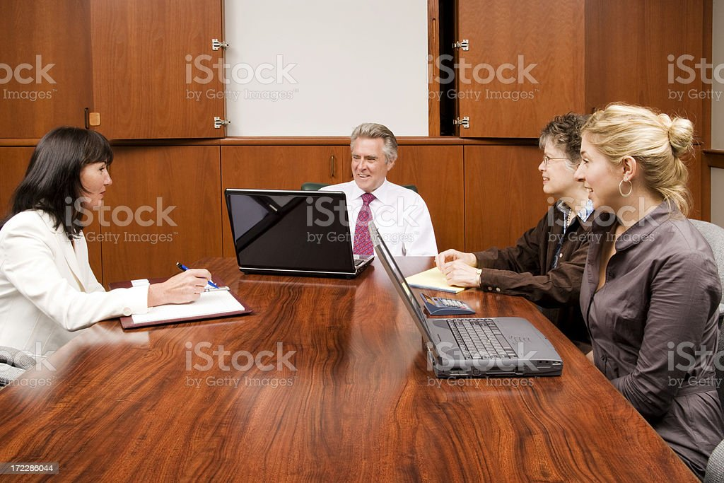 Team Meeting in Progress royalty-free stock photo
