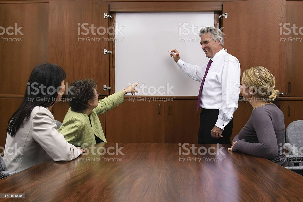 Team Meeting with White Board royalty-free stock photo
