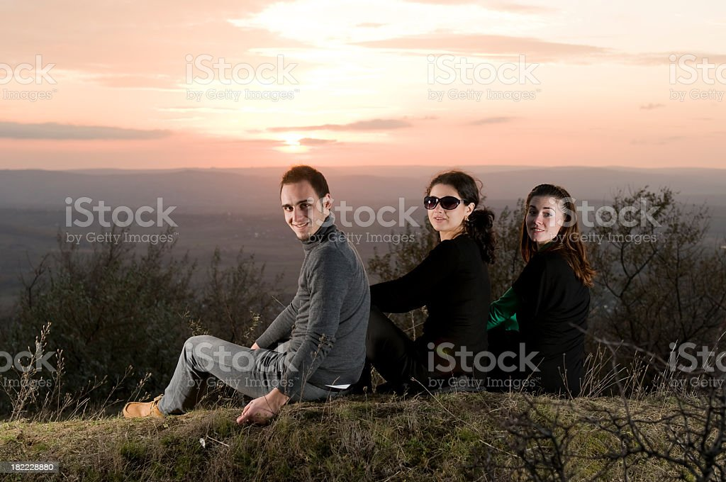 Team members relaxed royalty-free stock photo