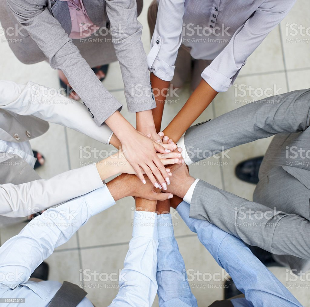 Team merging stock photo
