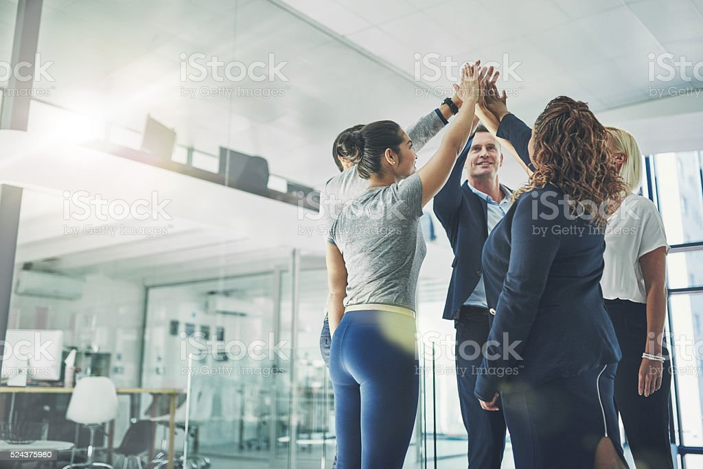 Team number one! stock photo