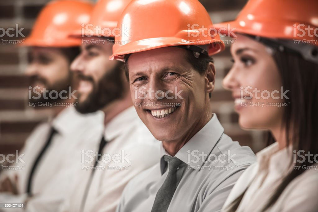 Team of architects stock photo