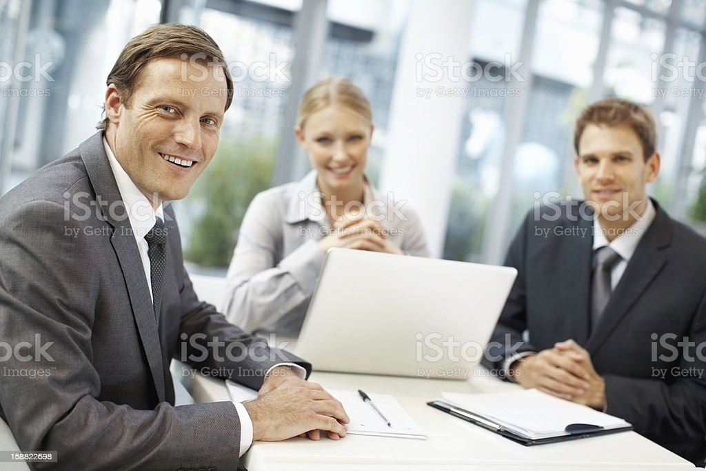 Team of business people in a meeting royalty-free stock photo