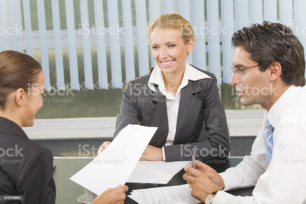 Team of business professionals working together royalty-free stock photo