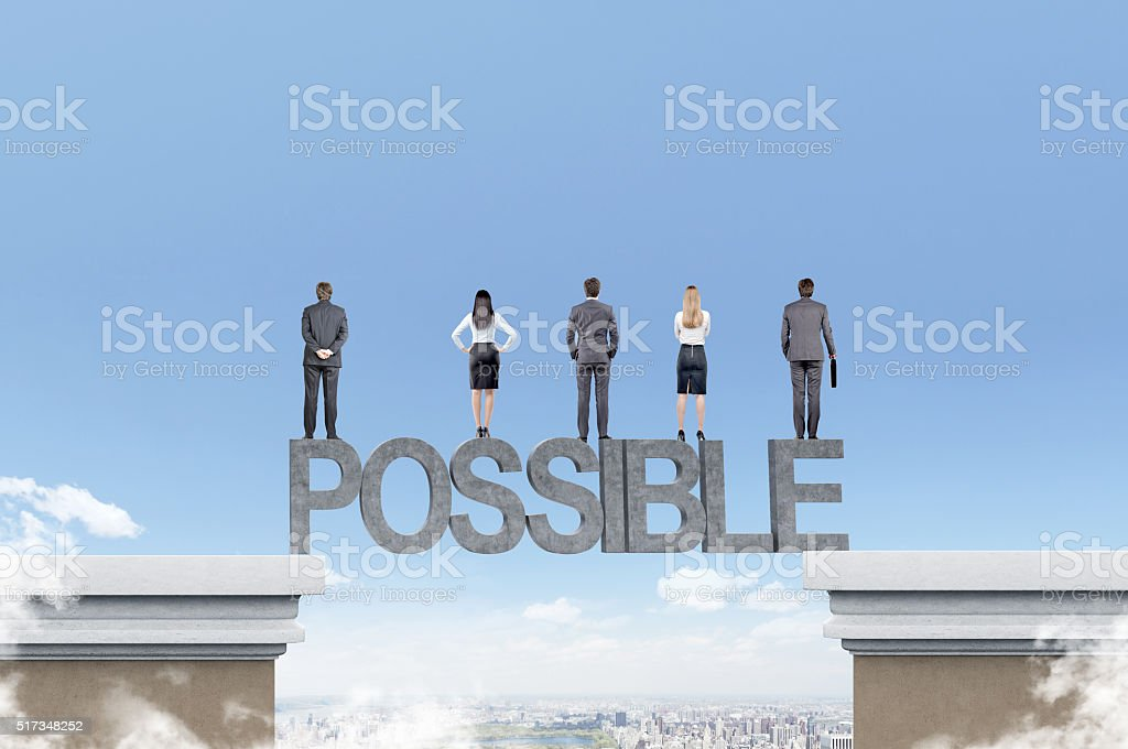 Team of businesspeople stock photo