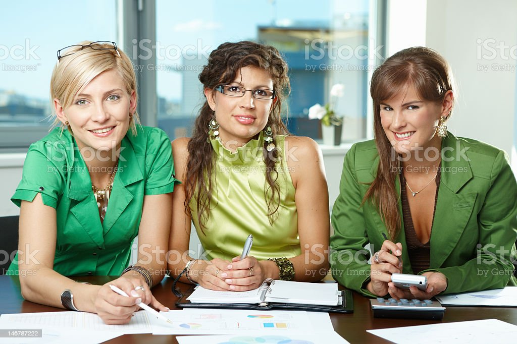 Team of businesswomen royalty-free stock photo
