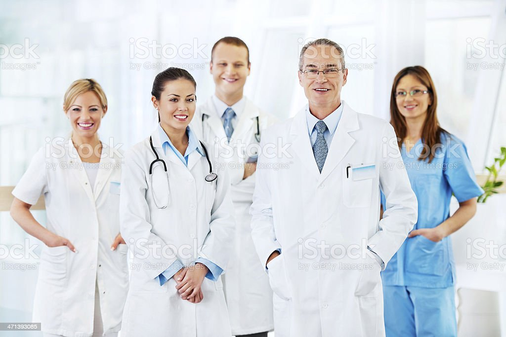 Team of doctors. royalty-free stock photo