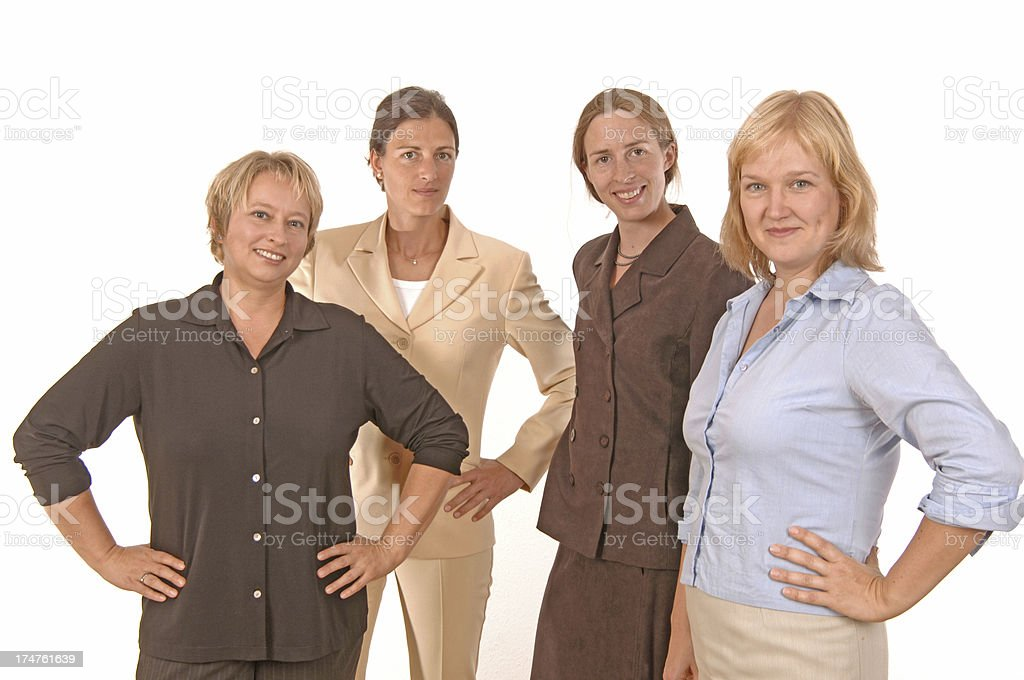 team of four businesswomen royalty-free stock photo