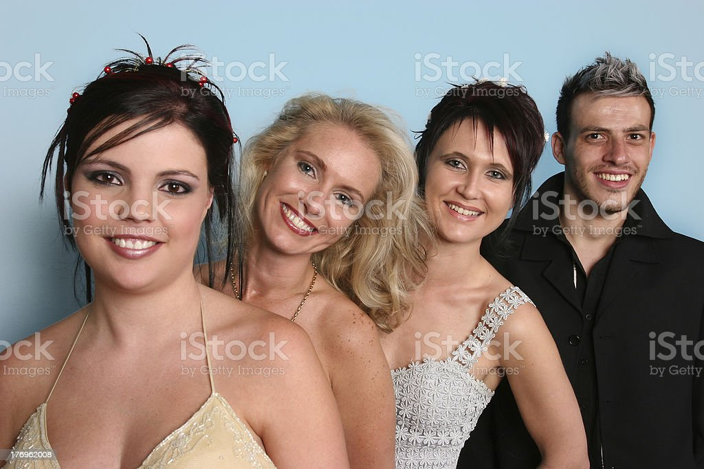 Team of Four! royalty-free stock photo
