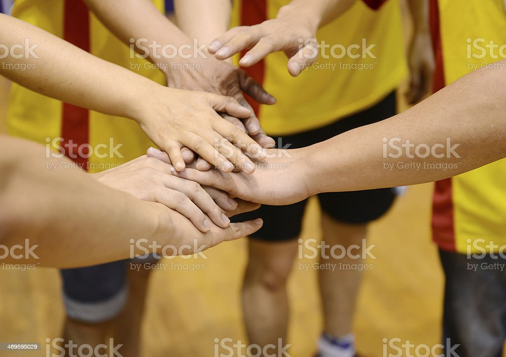 team of friends stock photo