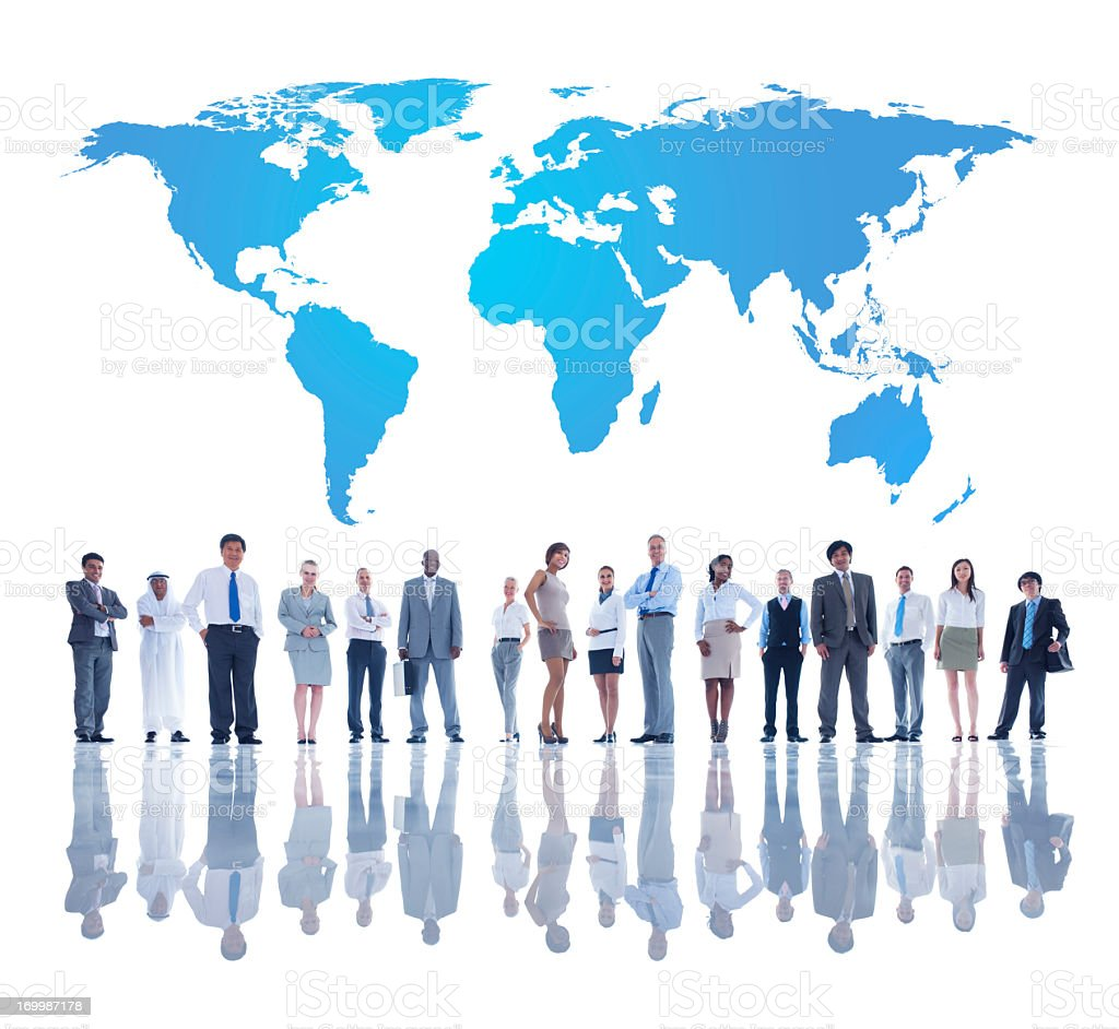 A team of global business people royalty-free stock photo