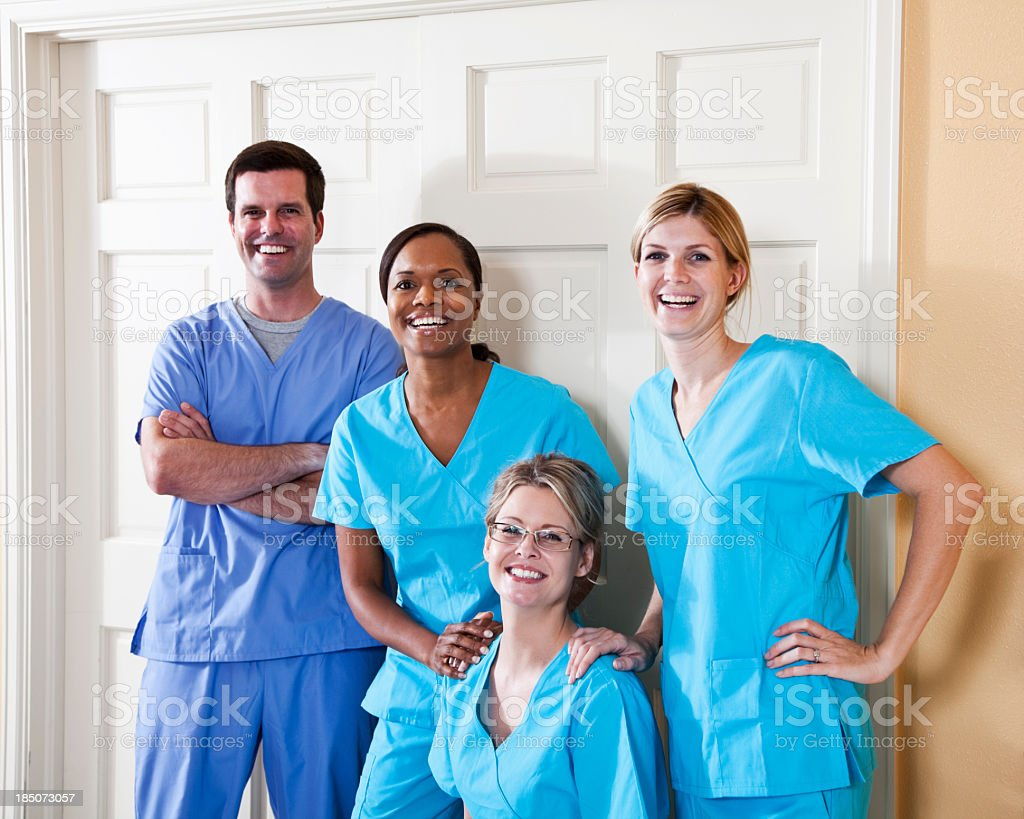 Team of healthcare workers stock photo
