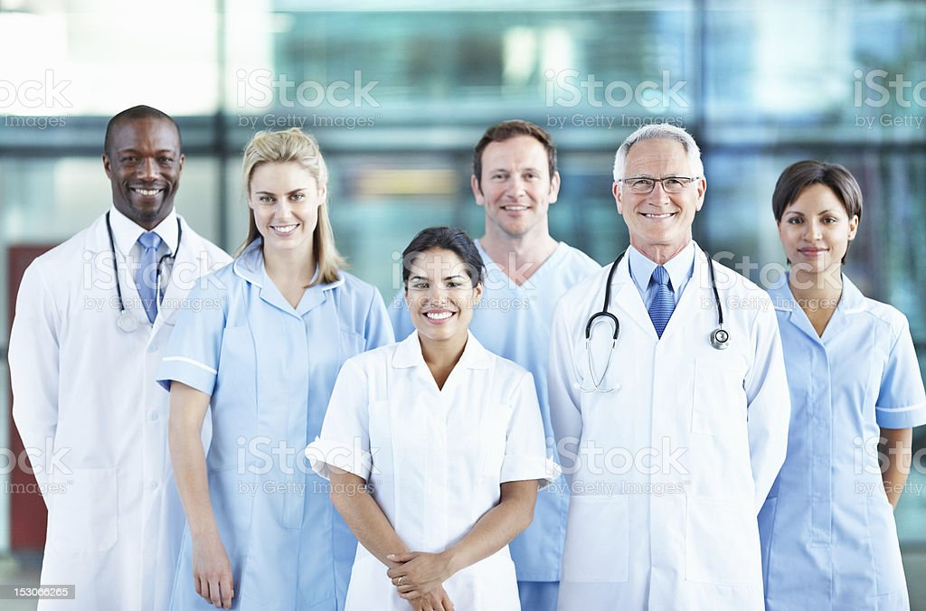 Team of multi ethnic doctors royalty-free stock photo