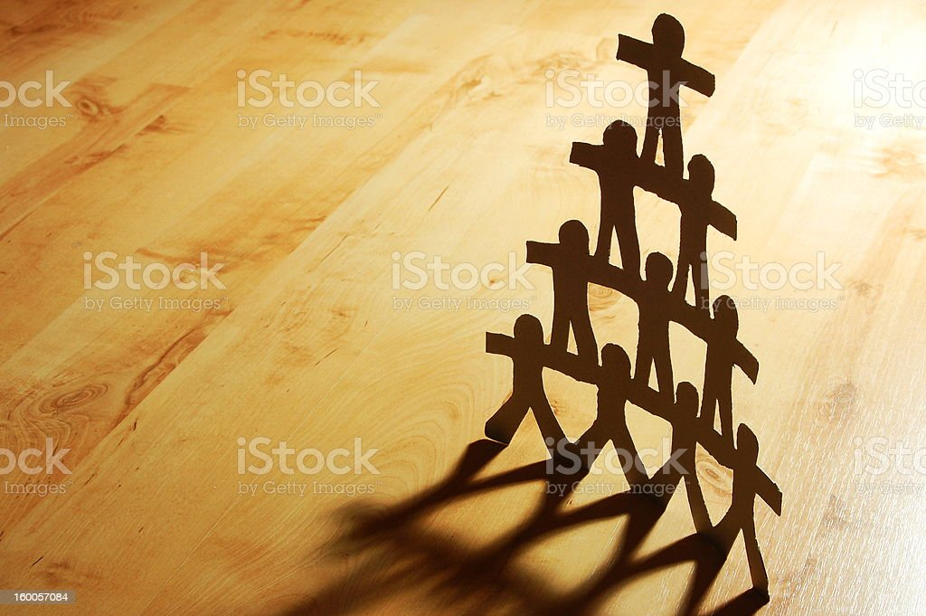 team of paperman royalty-free stock photo