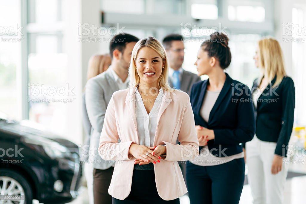 Team of professional salespeople stock photo