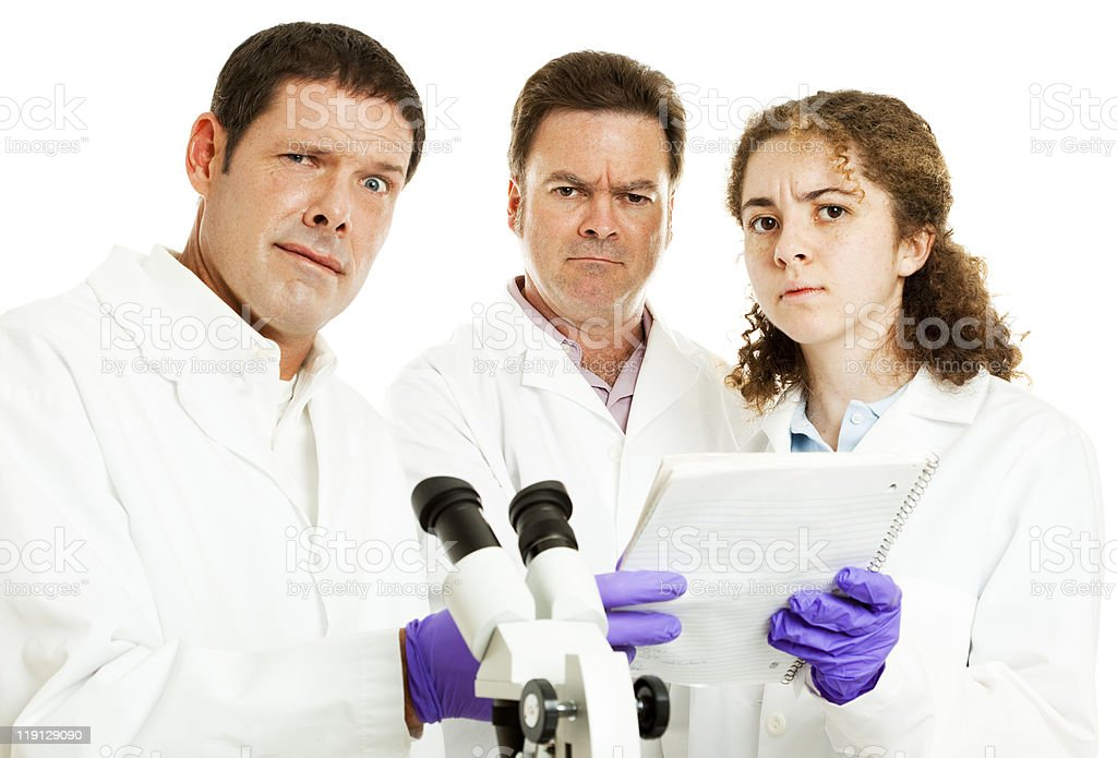 Team of Scientists Perplexed royalty-free stock photo