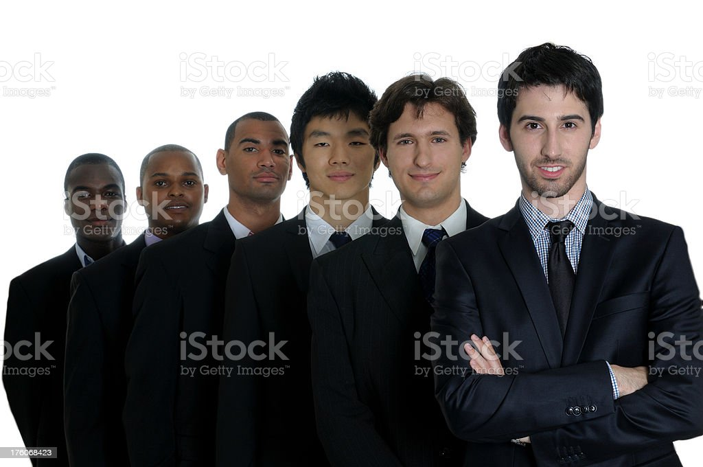 team of six business men royalty-free stock photo