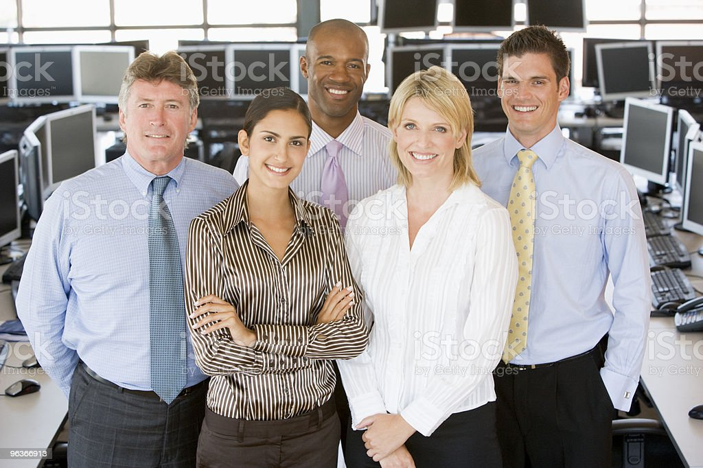 Team Of Stock Traders stock photo