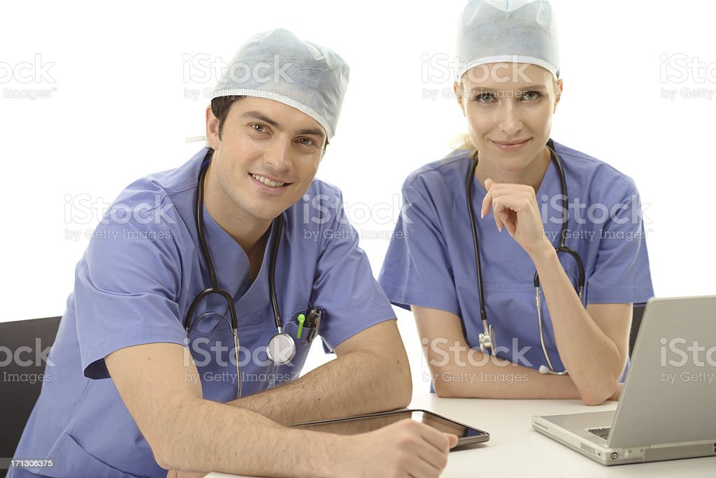 Team of surgeons royalty-free stock photo