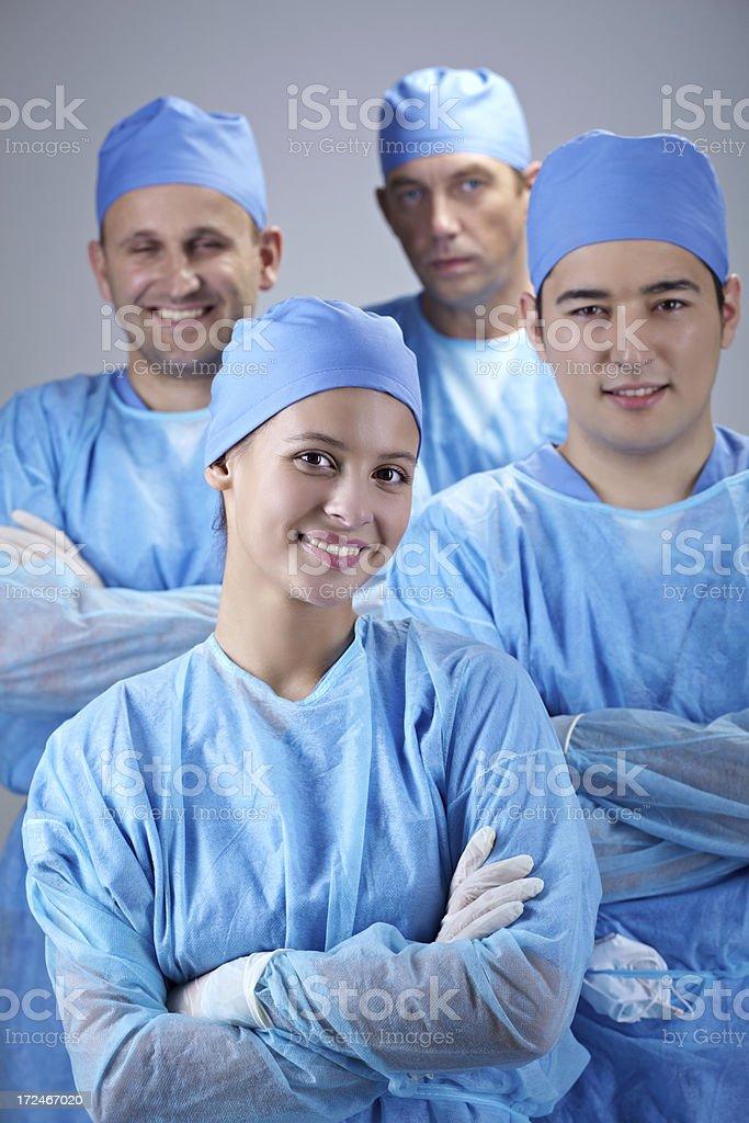 Team of surgeons royalty-free stock photo