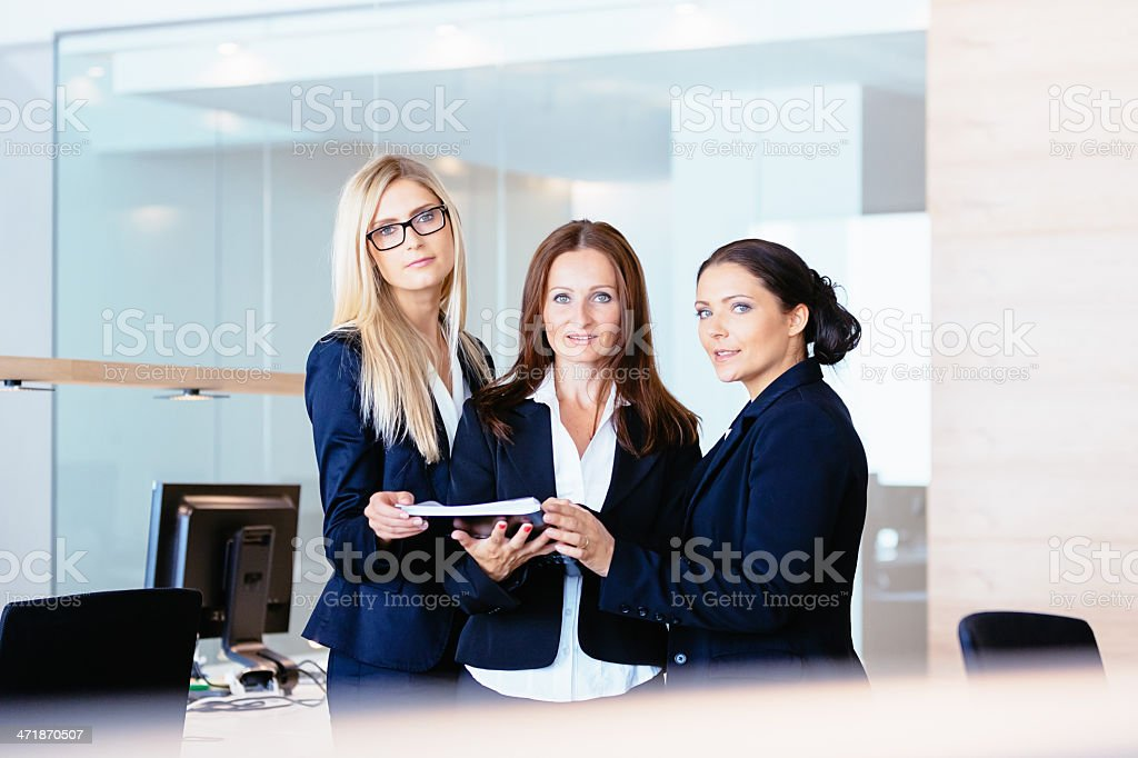 Team of Three Businesswomen in Modern Office royalty-free stock photo